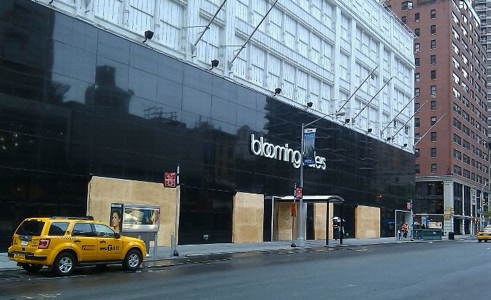 Bloomingdales Boarded up for Hurricane Irene