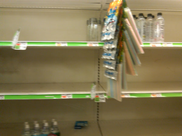 Empty Supermarket Shelves in Manhatten